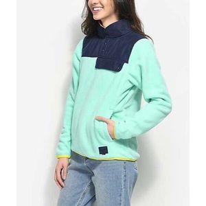 Herschel Lucite Green Pullover Fleece